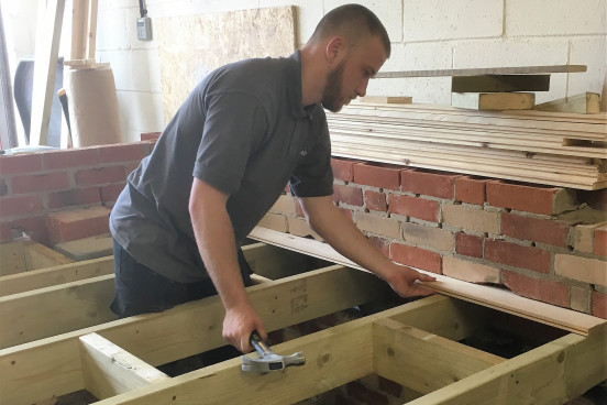 Hands on training in basic joinery techniques.
