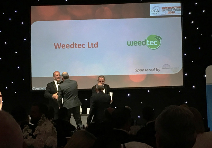 Weedtec Ltd- Contractors of the year in their business category.